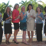 (L to R) Indulgence Committee members Stacey Beaulieu, Lindsey Johnson, Gini Dollard, Committee Chair Christine King, Stacey Hallberg, ACCF Foundation Development Officer Theresa Melocco and Mercy Carney.