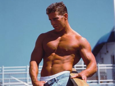 Rob Lopicola, shown shirtless from his personal training website.
