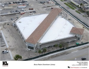 Bird's Eye view of the new downtown library, set to open this summer in Boca.