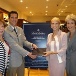 Brooks Brothers Event (from left to right). Bea Knopf, member of Advisory Board; John Wagstaff, manager of Brooks Brothers; Marny Glasser, president of the Advisory Board; Laurie Carney, FAU.