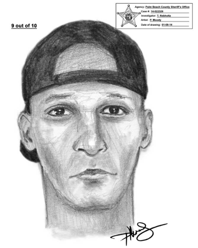 Who Is He? Please call Palm Beach County CrimeStoppers at 1-800-458-TIPS if you know.