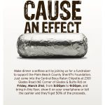 Show this flyer Friday night, March 21st, between 5p and 9p at the Chipotle Mexican Grille at Glades and 441 to help Deputy Chris Mamone.
