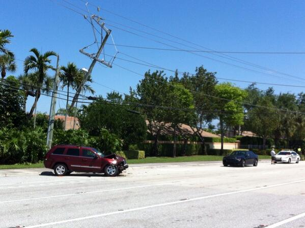 Accident scene, courtesy Palm Beach County Sheriff's Office.