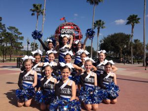 Addison Mizner Elementary's After School Competitive Dance Team performing at Disney World.