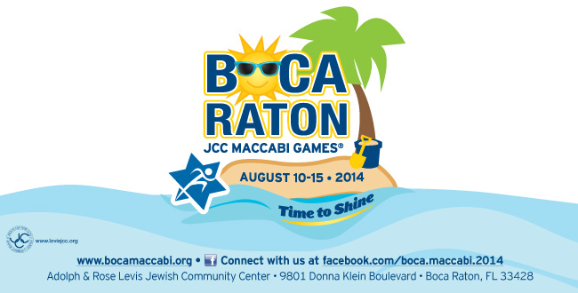 The Maccabi Games are coming to Boca Raton in August.