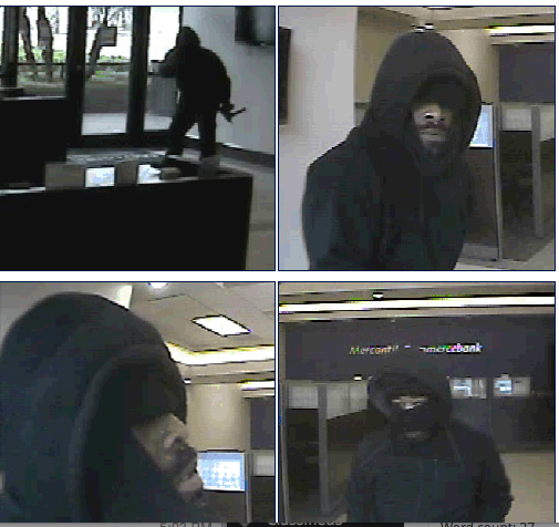 Who are they? The FBI would like your help identifying the bank robbers shown here.