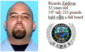 Ricardo Zaldivar is missing, according to Boca Raton Police.