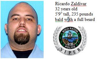 Ricardo Zaldivar is missing, according to Boca Raton Police.