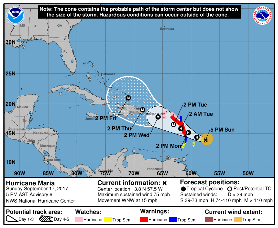 Meet Maria Storm Intensifies South Florida Could Be In