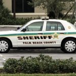 unoccupied PBSO vehicle