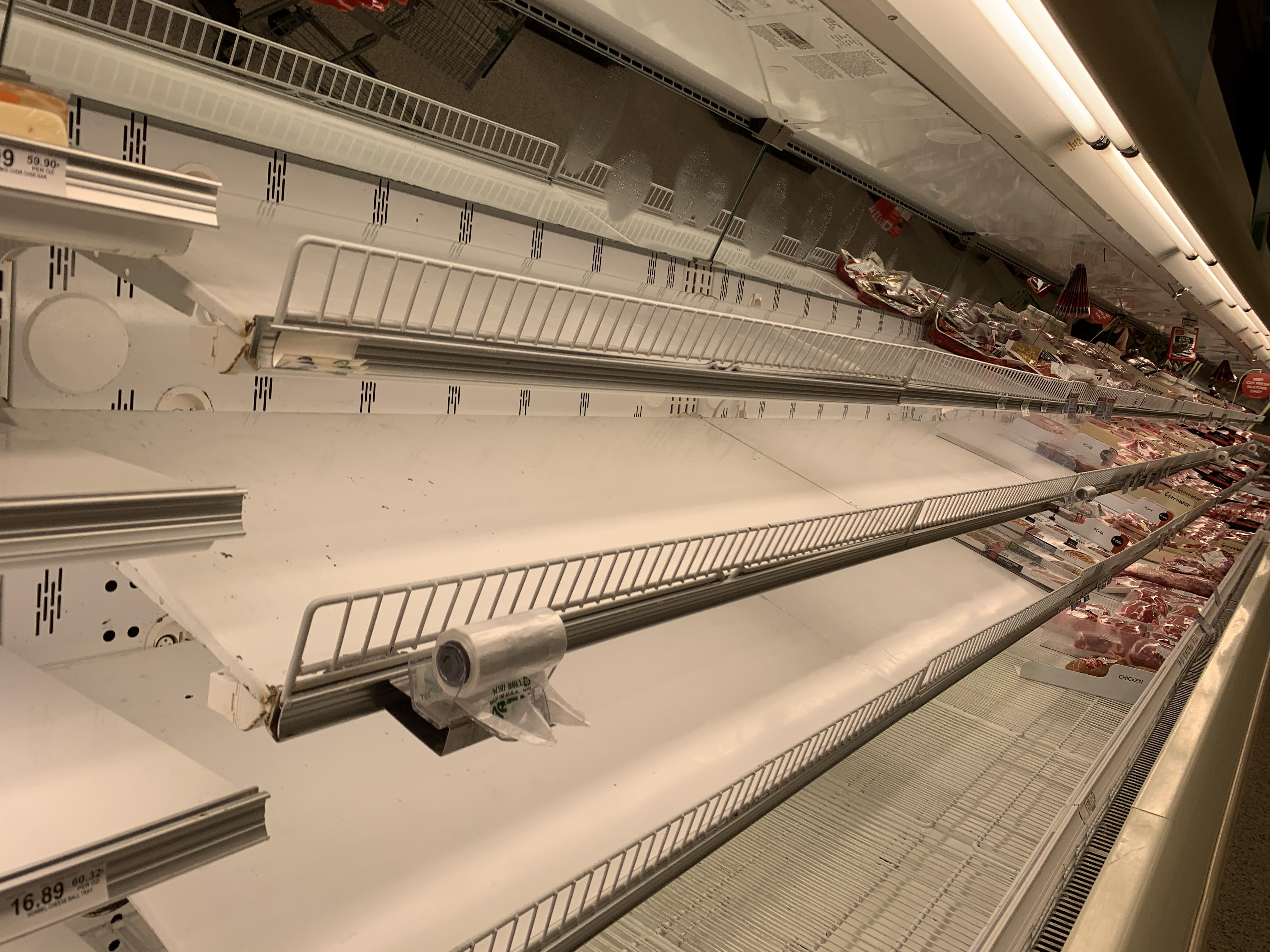 Publix delray empty shelves