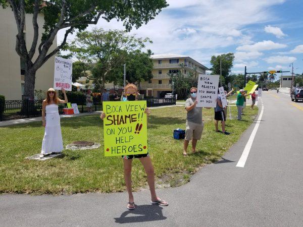 Boca view protest