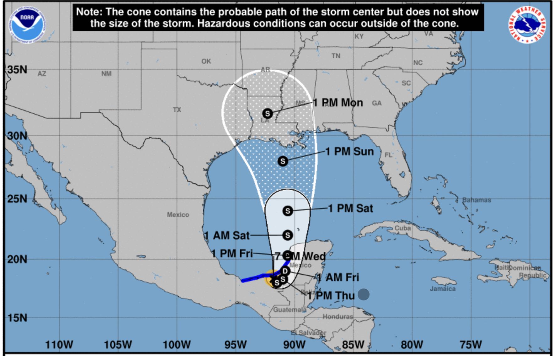 hurricane center cristobal
