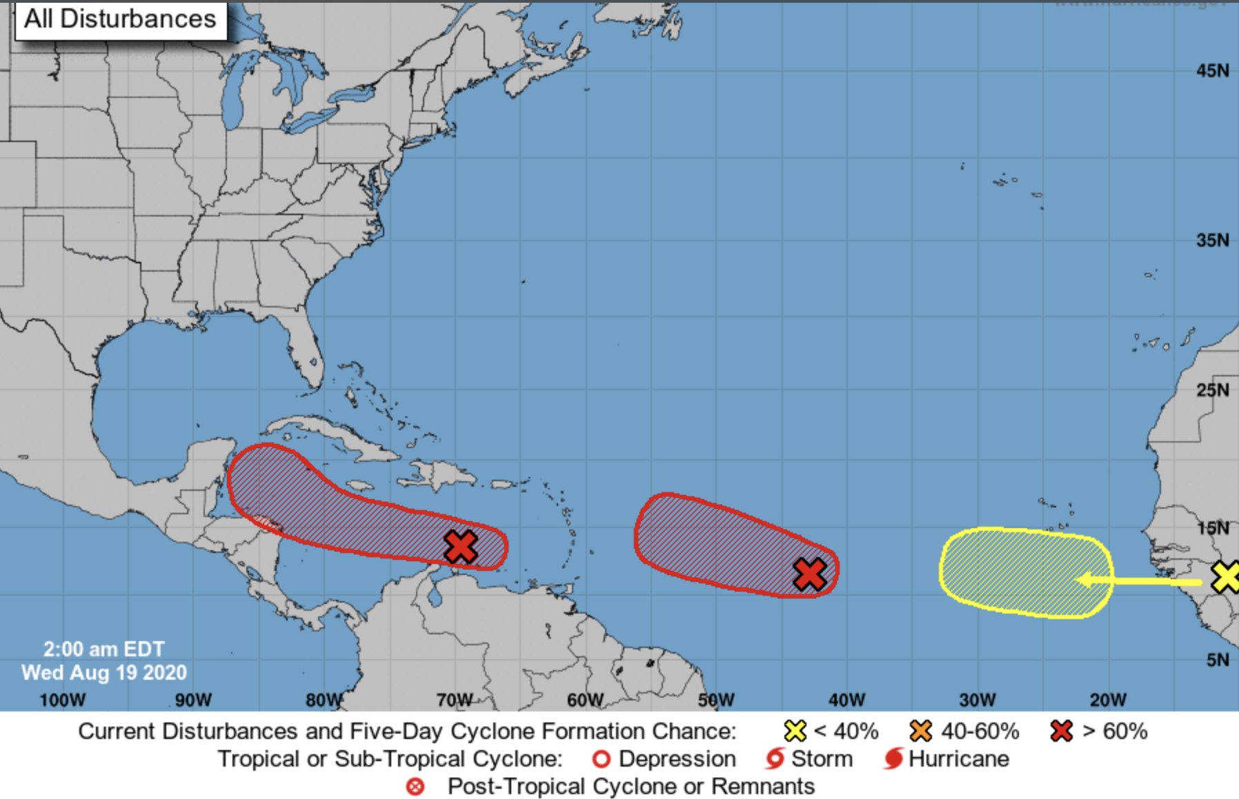 national hurricane center wednesday