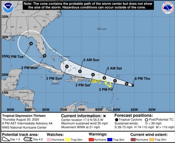 hurricane center laura august 20 20202