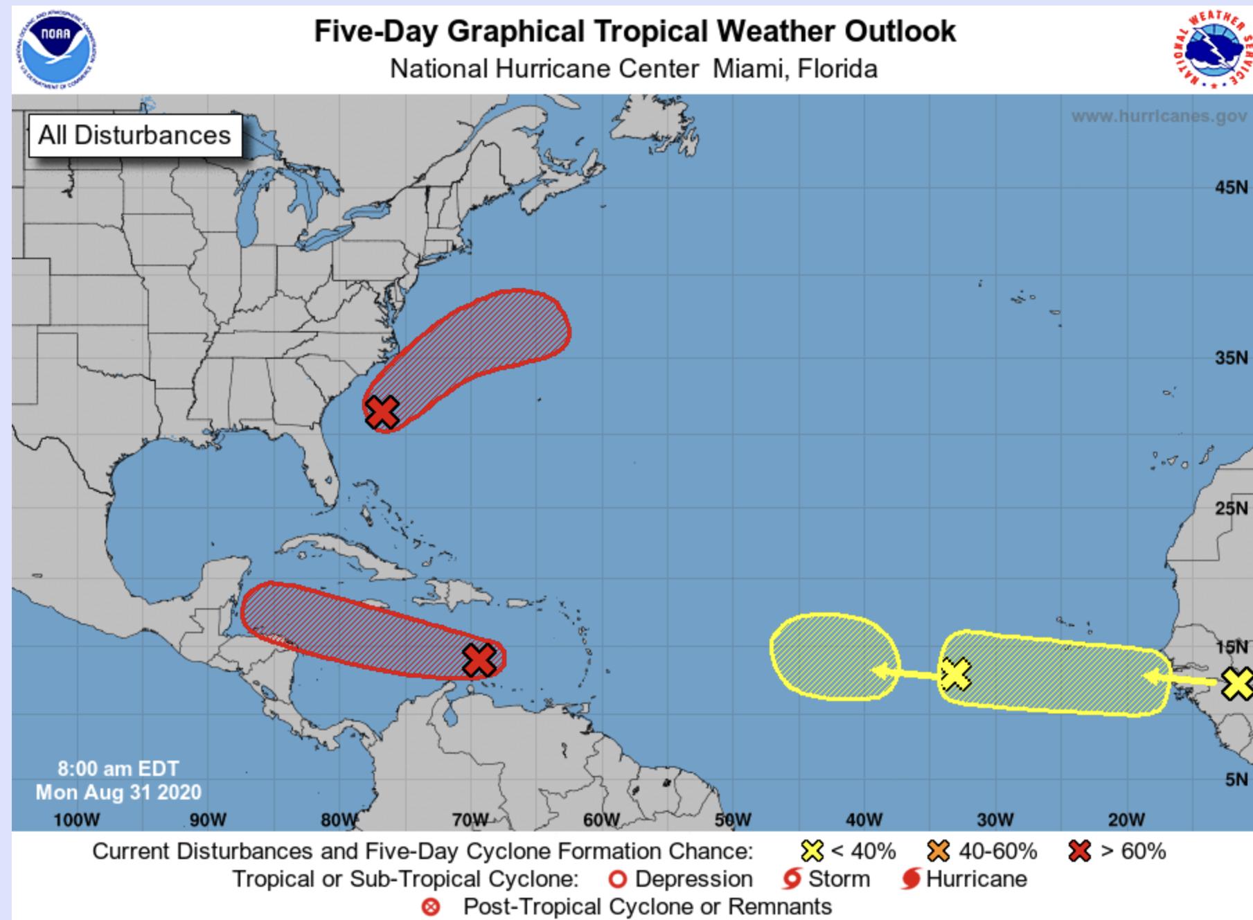 8AM National Hurricane center august 31 2020