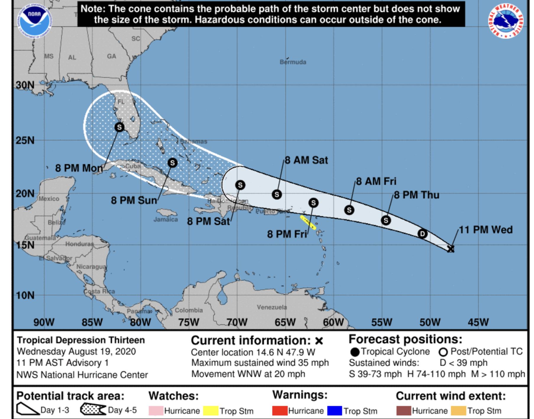 national hurricane center florida august 2020