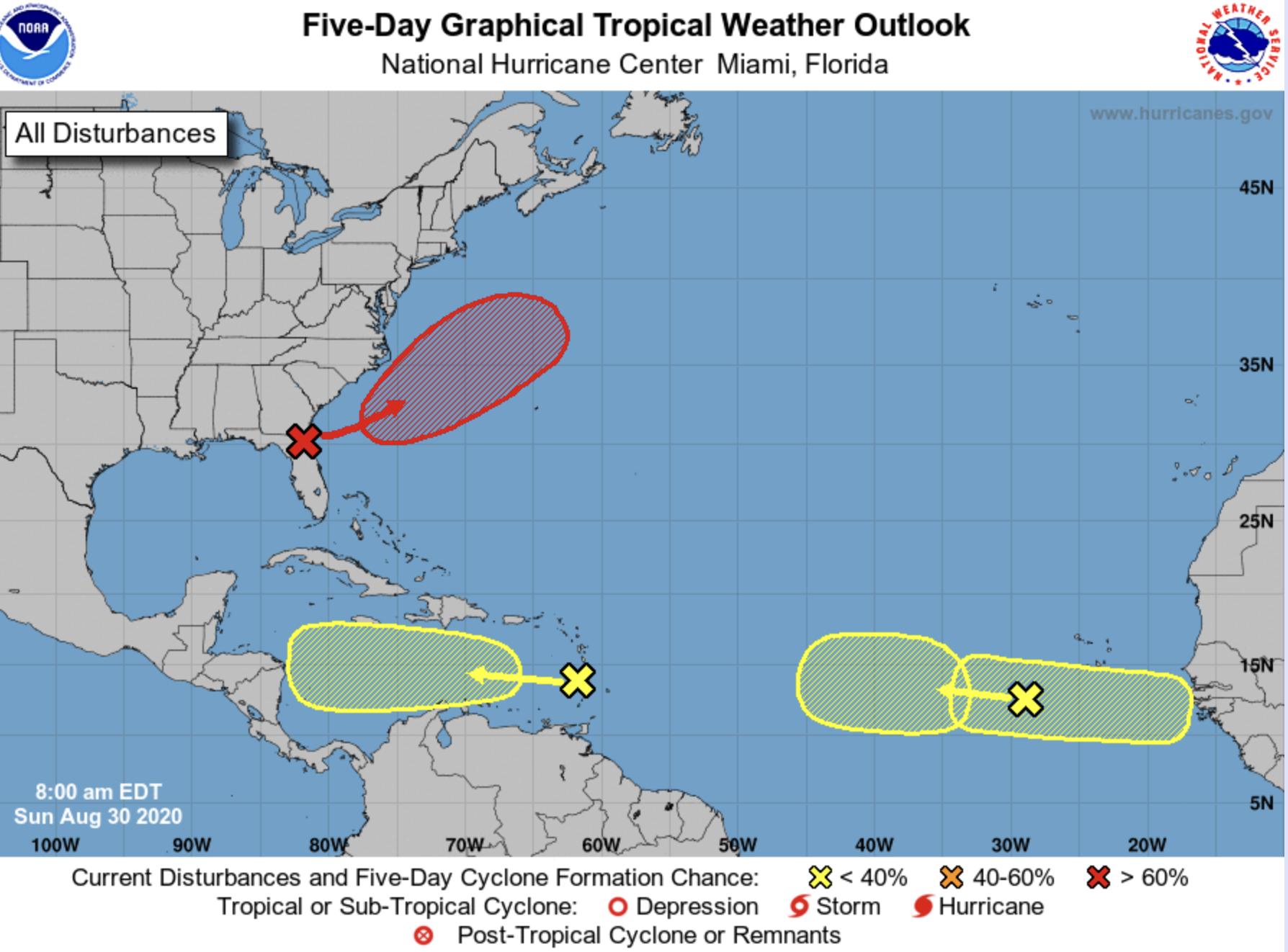 national hurricane center august 30 2020