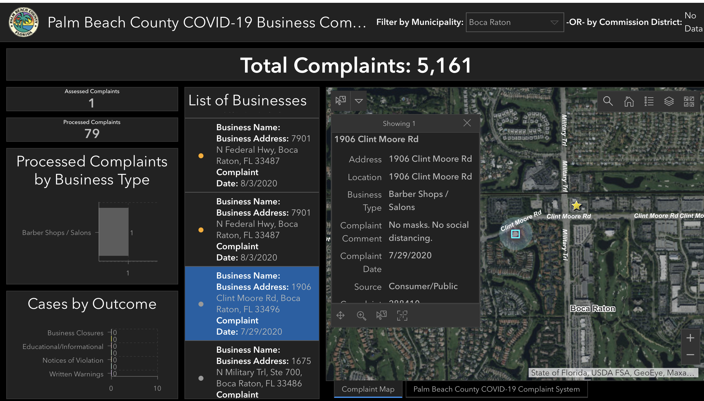 violation dashboard palm beach county