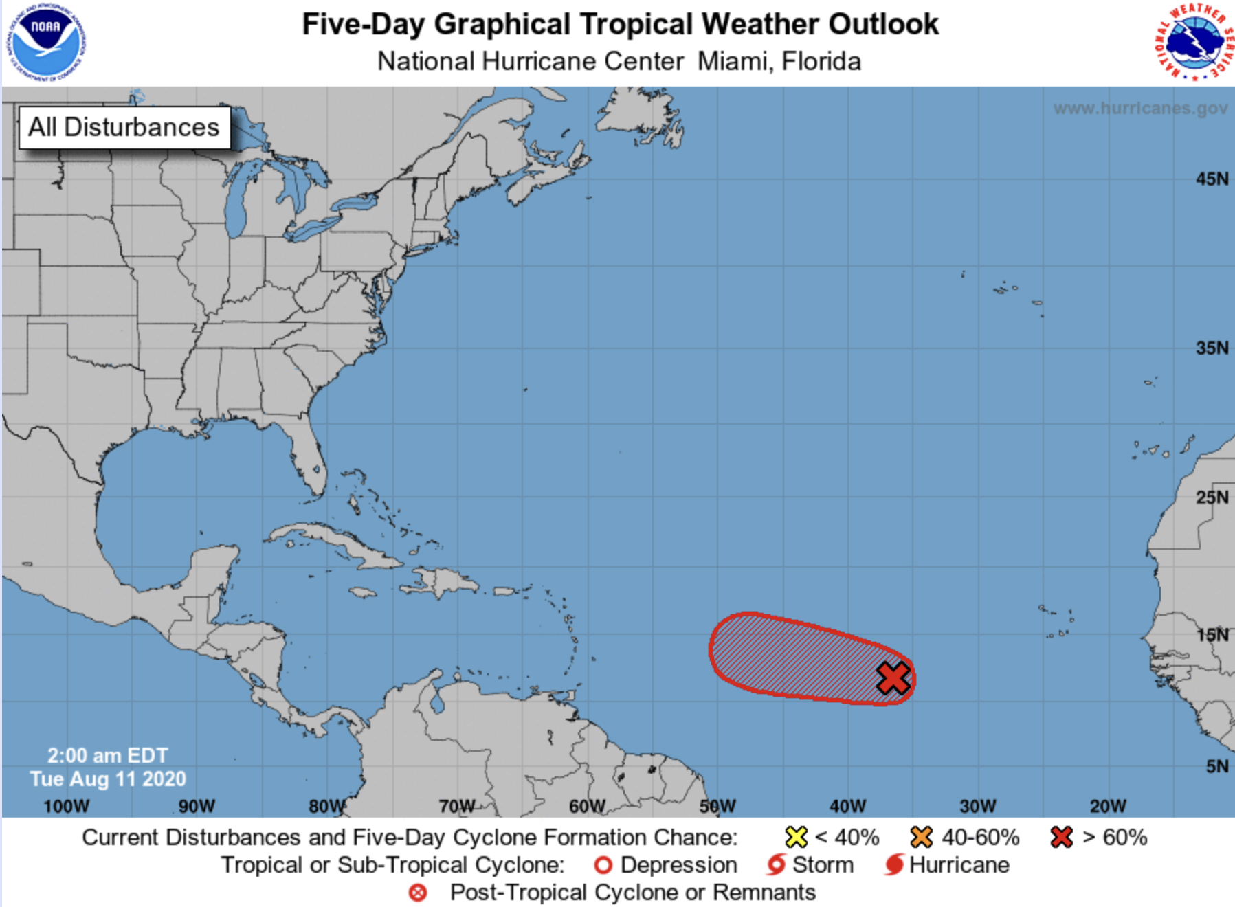 national hurricane center august 11