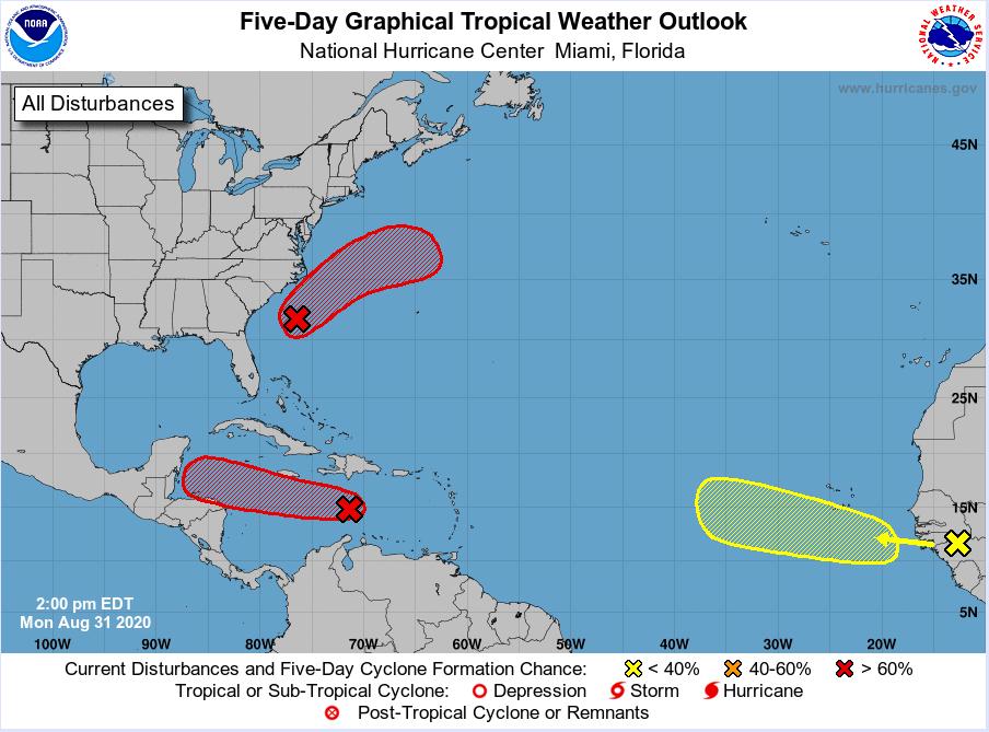 national hurricane center august 31 2020