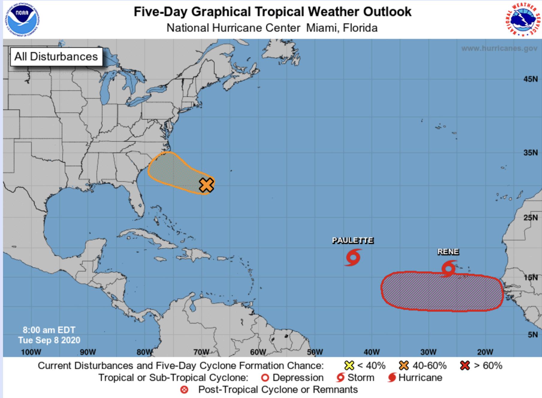hurricane map september 8 2020