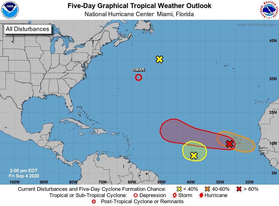 Hurricane Center Florida 2pm Update Sept 4