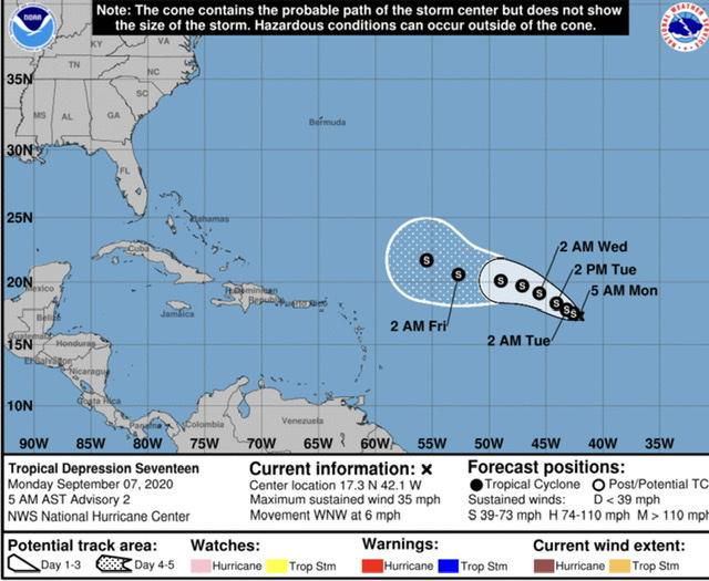 tropical depression 17