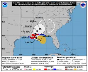 hurricane sally, New Orelans