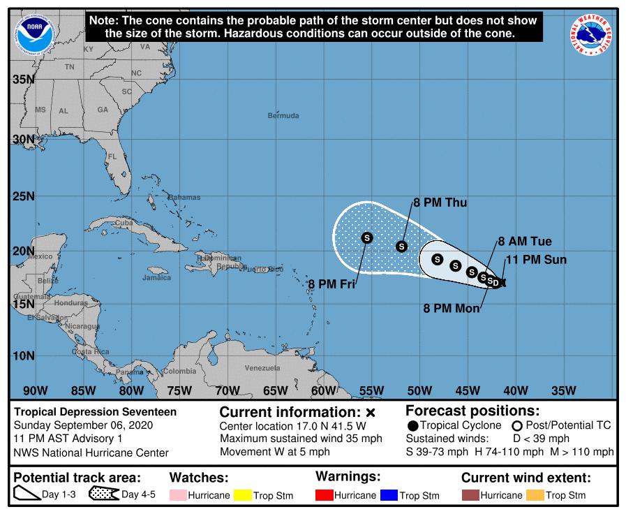 tropical depression 17 national hurricane center