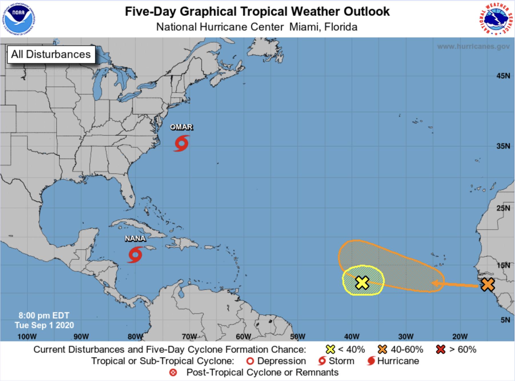 hurricane nana