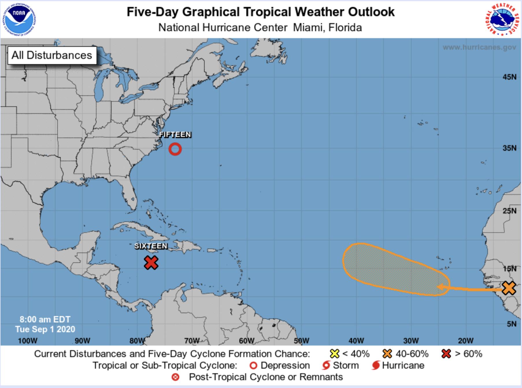 national hurricane center 3 waves