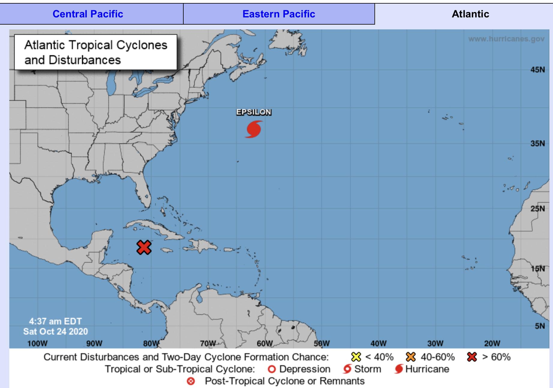 National Hurricane Center Forecast October 24 2020