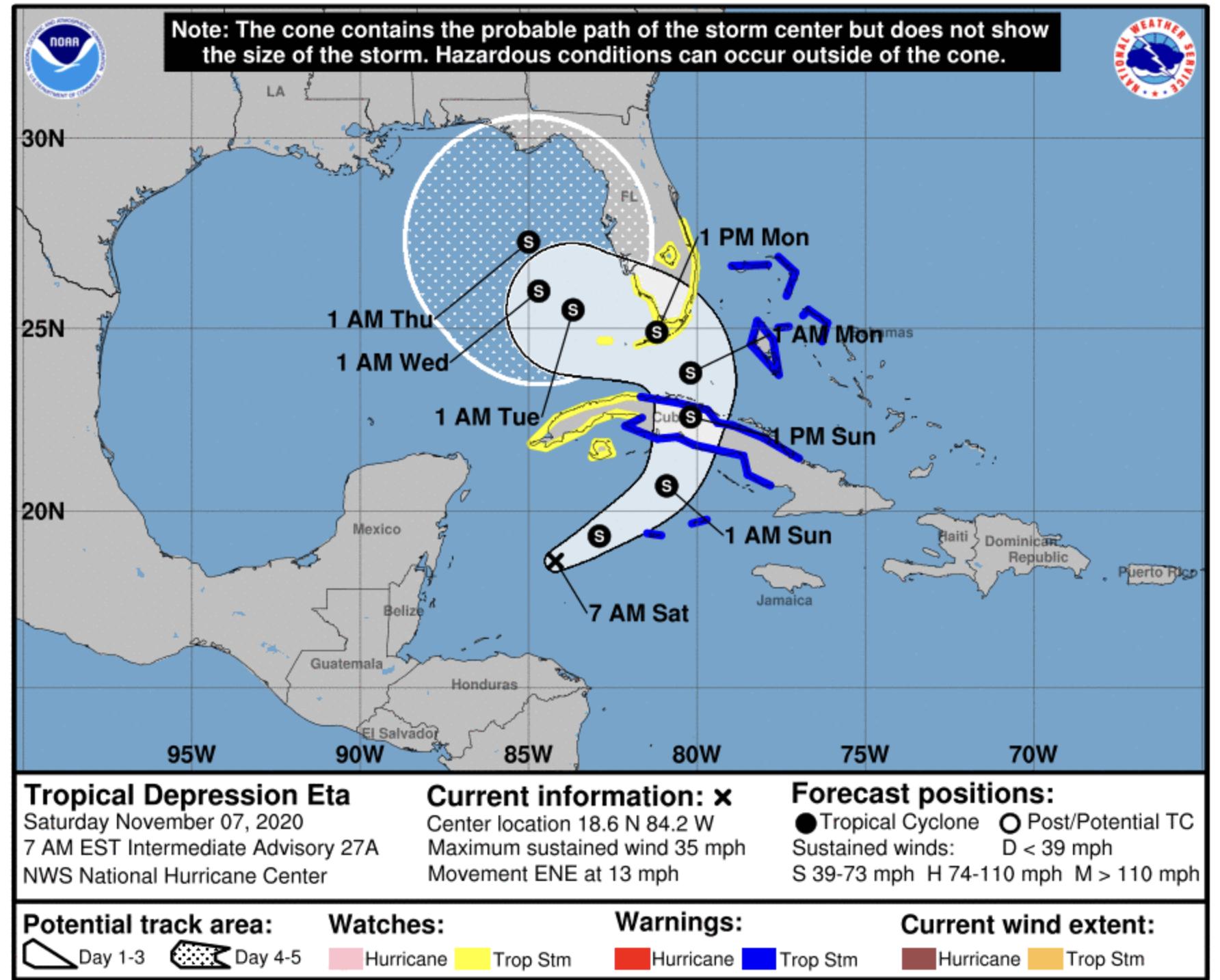 tropical depression eta