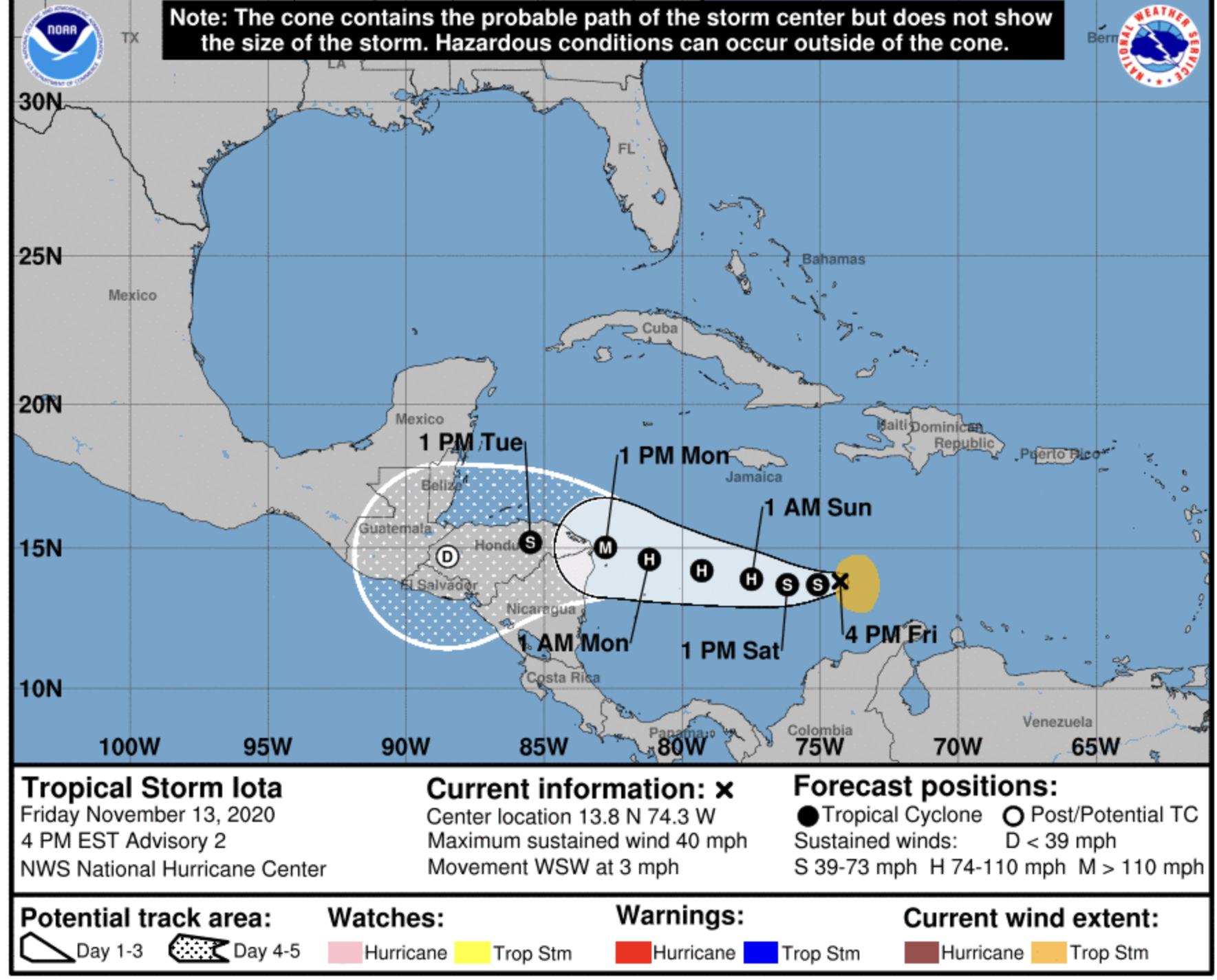 tropical storm iota