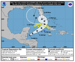 Hurricane Eta November 6 2020