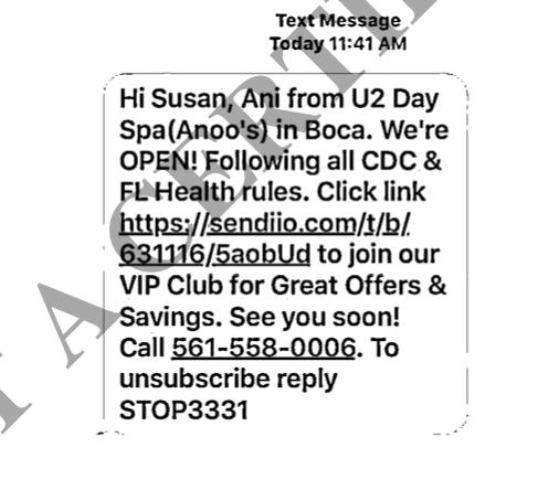 Class Action Text Messaging Boca