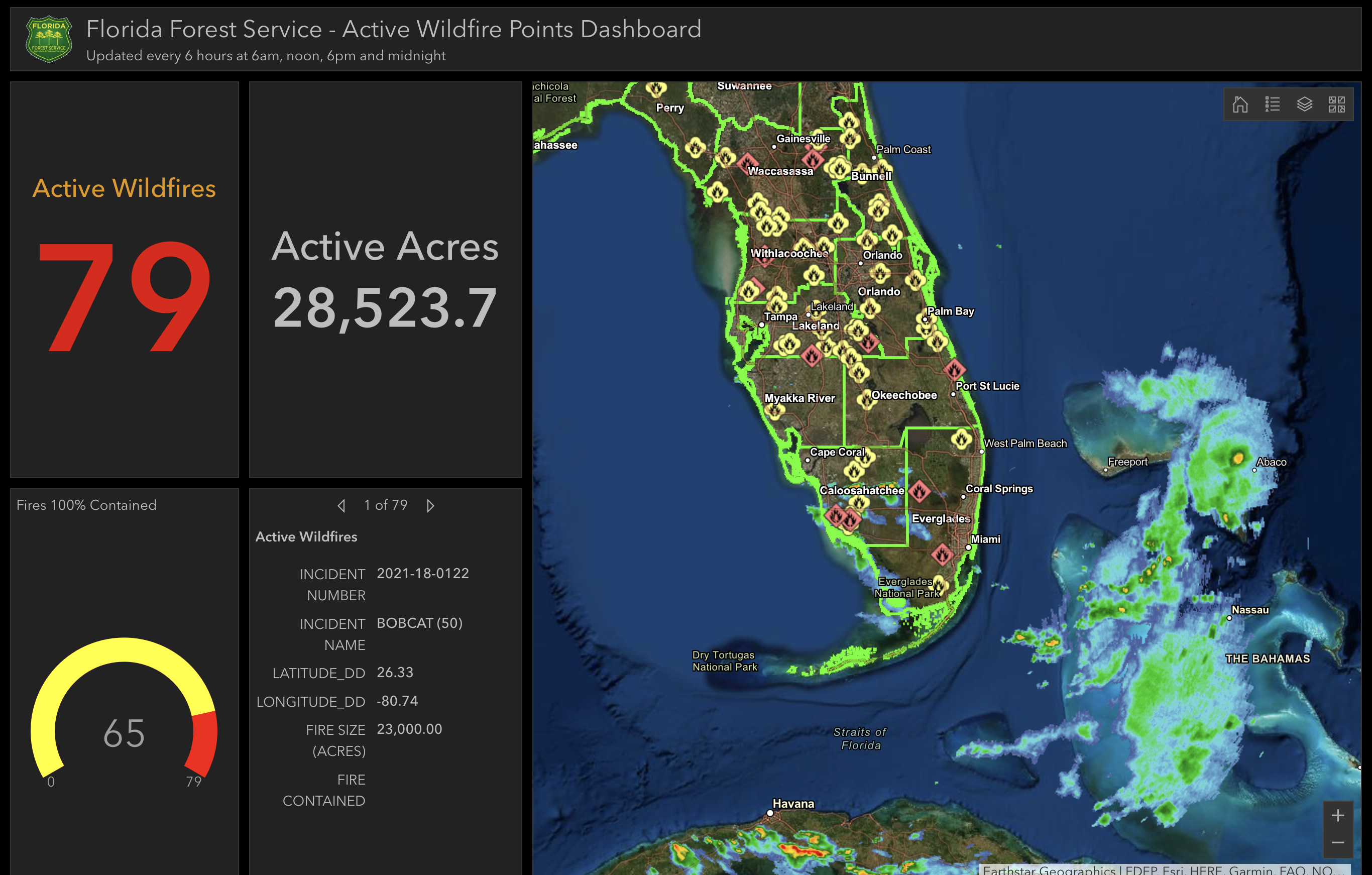 Florida forestry map