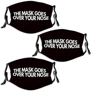 Mask over nose