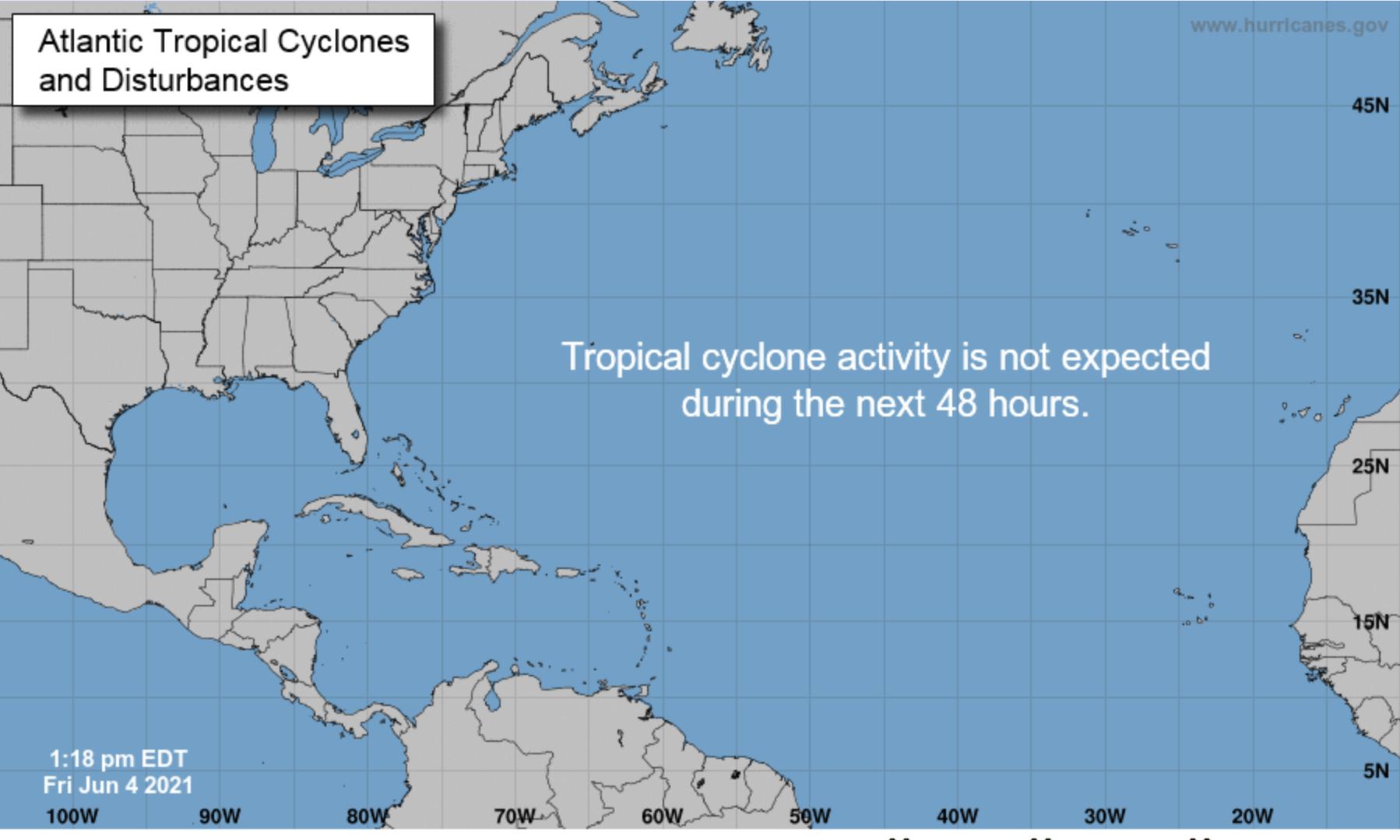 Hurricane center all quiet
