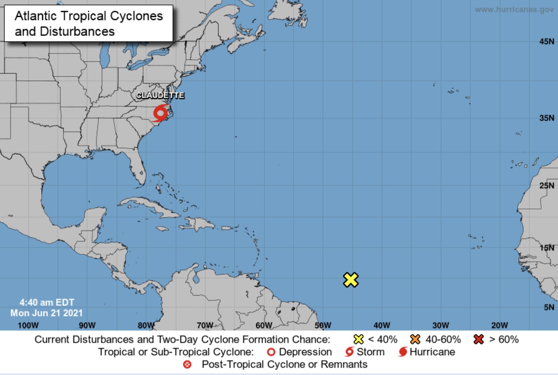 National hurricane center June 21
