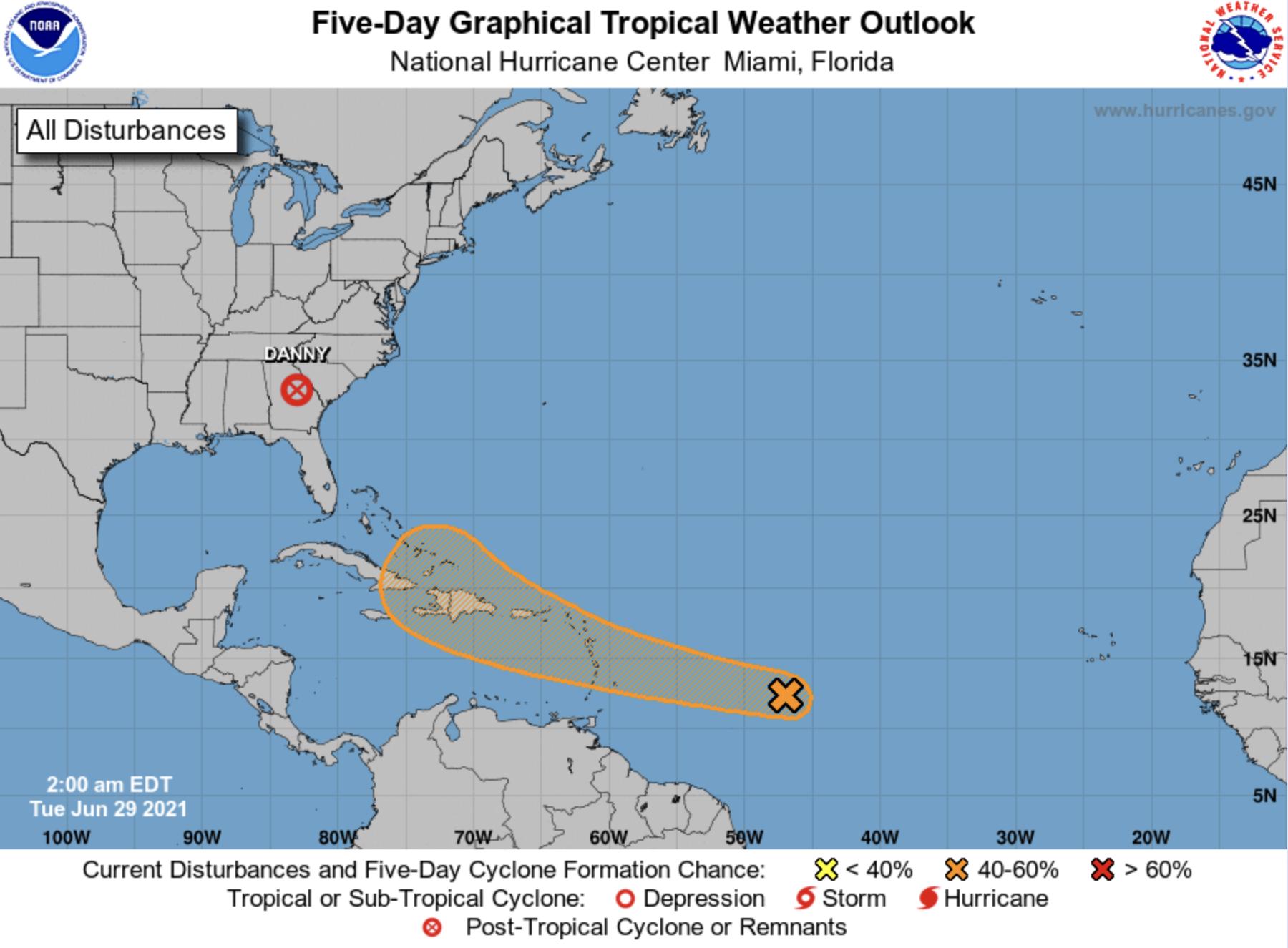 Hurricane center June 29 2021 early