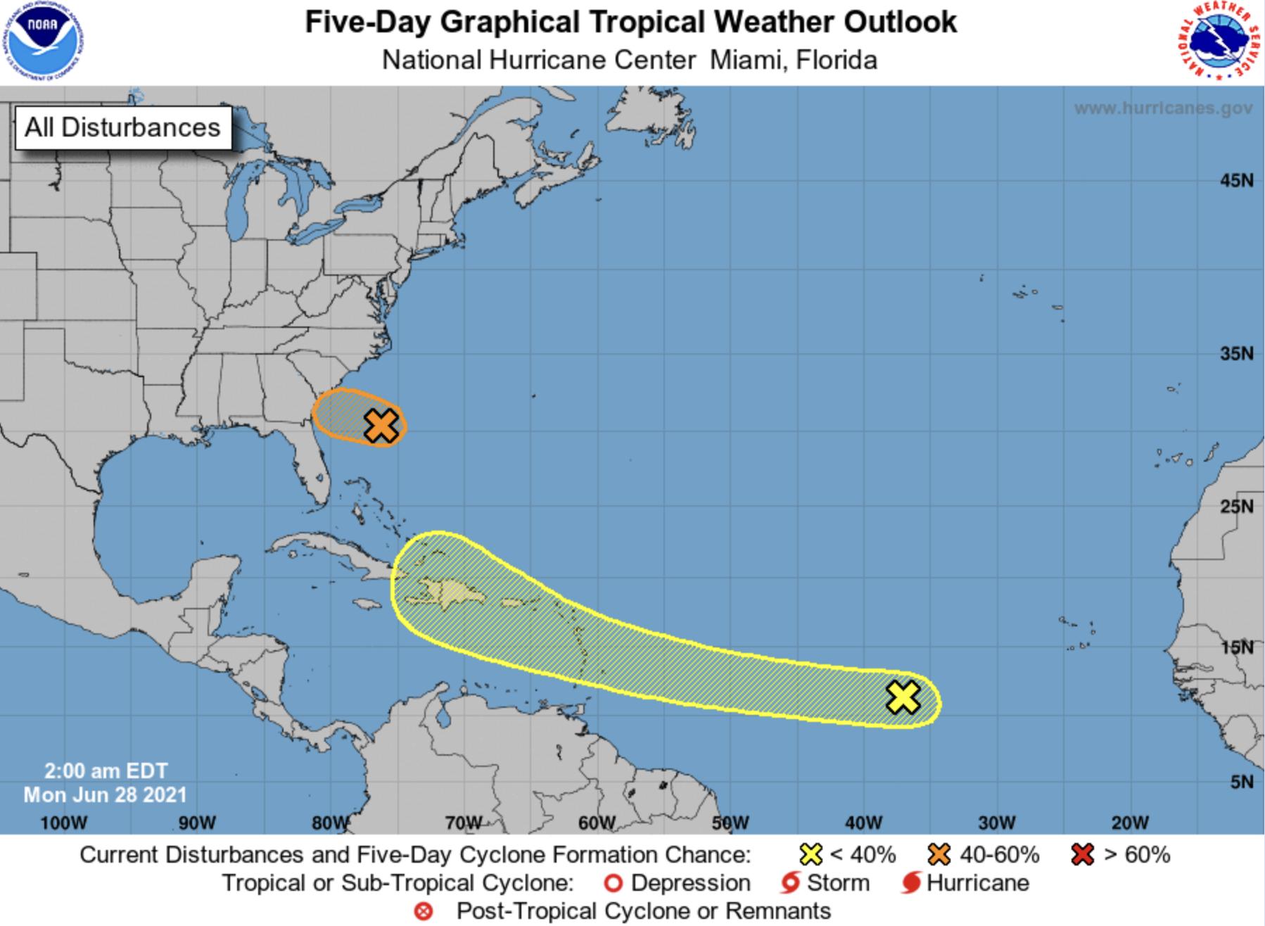 National hurricane center June 28 2021