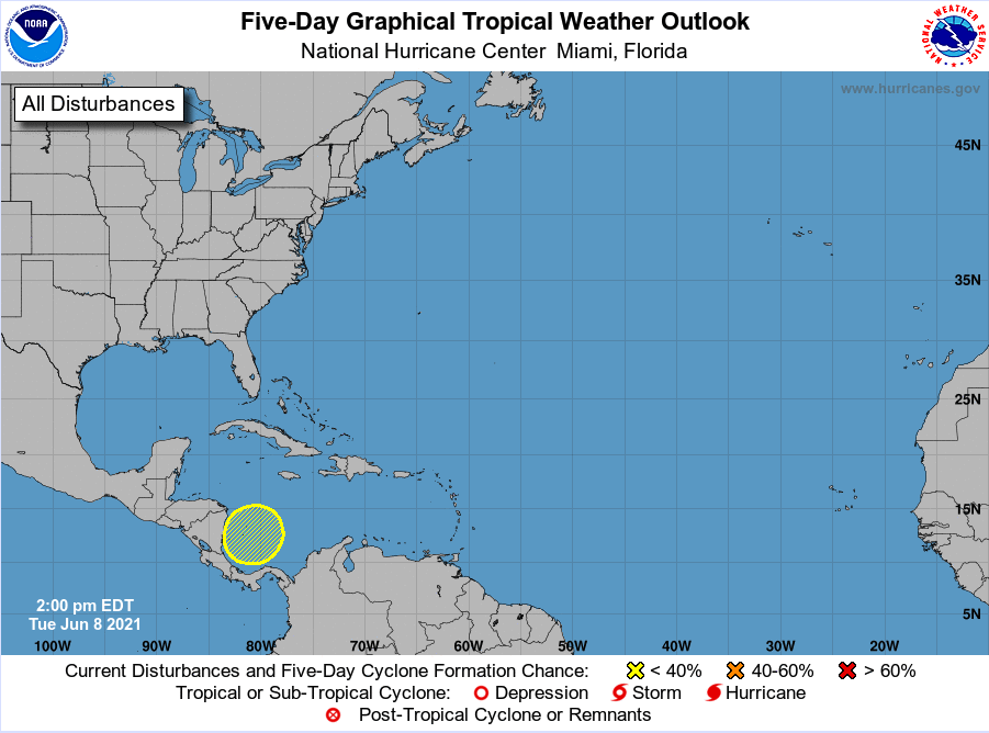 National Hurricane Center June 8 2021