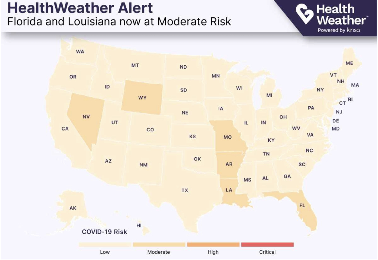 Kinsa HealthWeather Florida COVID