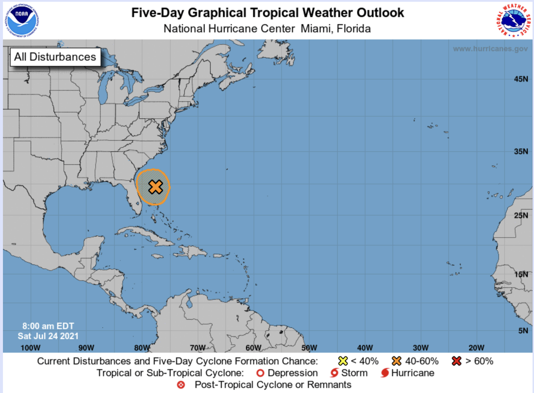 Florida Tropical Depression Likely