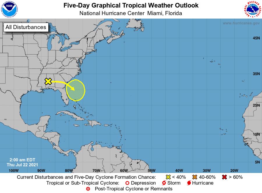 National hurricane center July 22, 2021