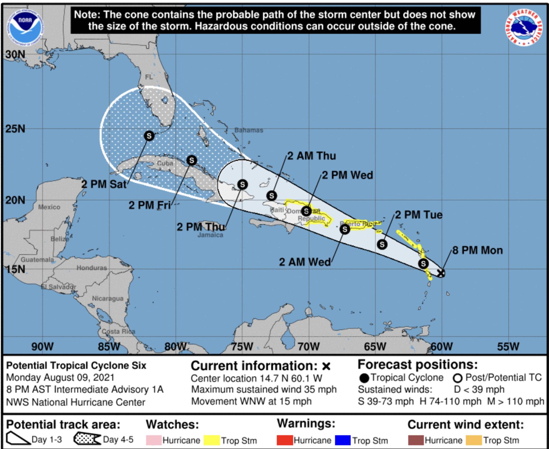 NHC Tropical Storm Florida