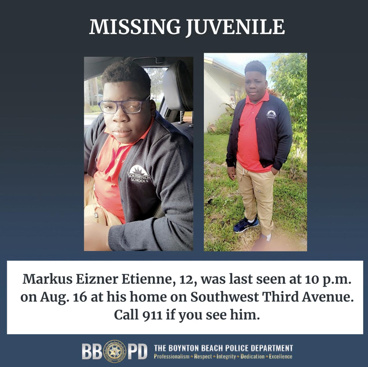 Boynton beach missing child