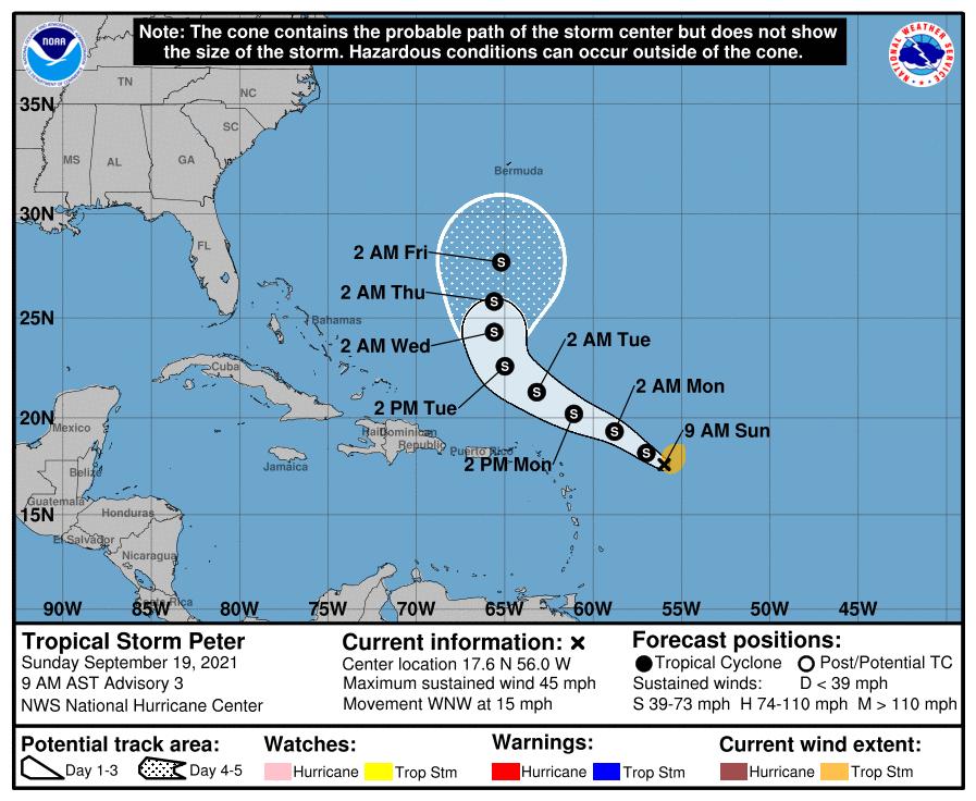 Tropical storm peter